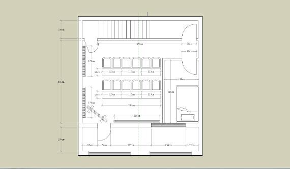 根据加盟商提供店铺平面图设计的三维效果图